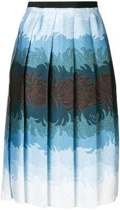 Marco De Vincenzo floral pleated skirt