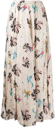 Forte Forte floral-print maxi skirt