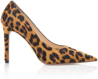 Prada Leopard-Print Calf Hair Pumps