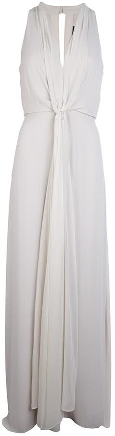 BCBGMAXAZRIA draped long dress