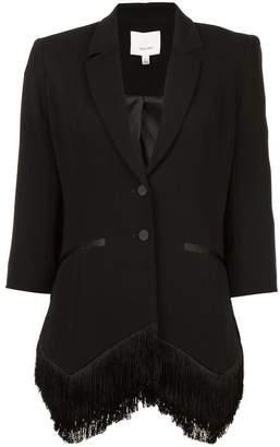 Cinq à Sept cropped sleeve blazer