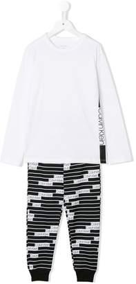 Calvin Klein (カルバン クライン) - Calvin Klein Kids logo print T-shirt and trousers set