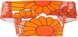 Dodo Bar Or Ceccile Floral Print Bikini Top