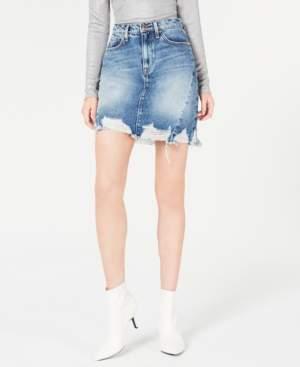 Hudson Jeans Lulu Frayed Denim Skirt