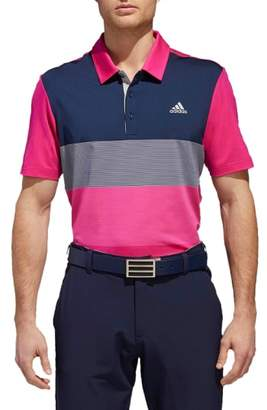 adidas GOLF Ultimate Colorblock Regular Fit Polo Shirt