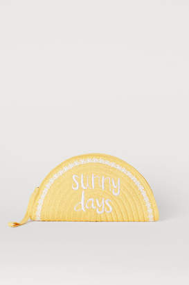 H&M Paper Straw Clutch Bag - Yellow
