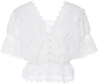 Alexis Pentha Cropped Lace Top