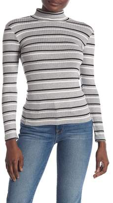 Frame Stripe 70's Knit Turtleneck Top