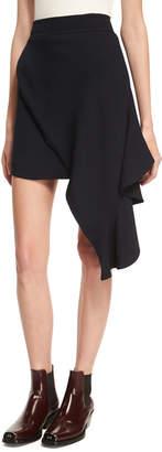Calvin Klein Draped Sable High-Low Miniskirt