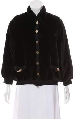 St. John Faux Fur Button Front Coat