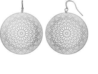JLO by Jennifer Lopez Geometric Filigree Disc Drop Earrings