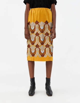 Dries Van Noten Scotta Embroidered Skirt