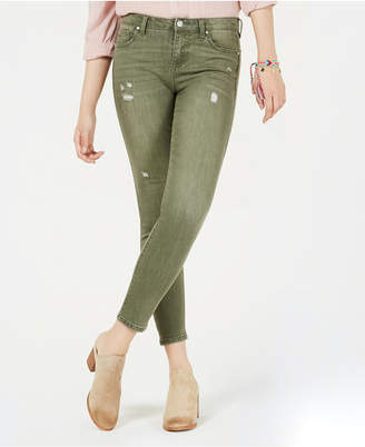 Celebrity Pink Juniors' Colored Distressed Skinny Jeans