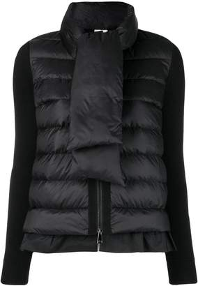 Moncler scarf-tie down jacket
