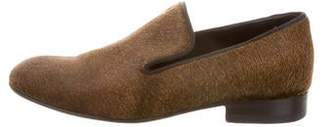 db699116ded Celine Ponyhair Round-Toe Loafers