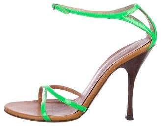 Dolce & Gabbana Patent Leather Ankle-Strap Sandals