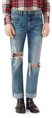 Gucci Ripped Denim Jeans