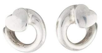 Georg Jensen Swirl Heart Stud Earrings
