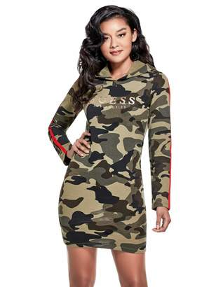Factory Guess Women's Candice Camo Jumper Dress