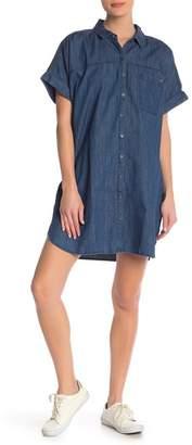Volcom Yo Shortie Denim Shirt Dress