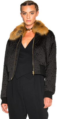 Lanvin Fur Collar Bomber Jacket $4,995 thestylecure.com