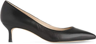 LK Bennett Audrey leather kitten heel courts