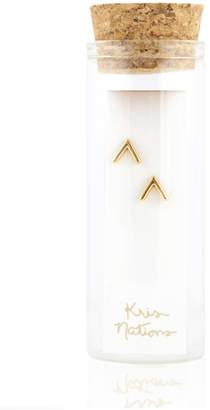 Kris Nations Chevron Stud Earrings