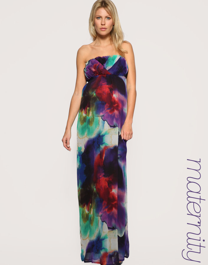 ASOS MATERNITY Rainbow Maxi Dress