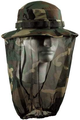 Rothco Boonie Hat With Mosquito Netting - Woodland Camo/Olive Drab, 7 1/2