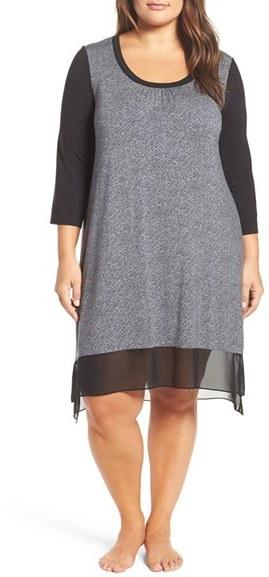 DKNYPlus Size Women's Dkny 'Urban Essentials' Stretch Modal Lounge Dress