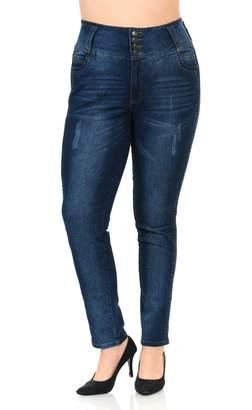 Pasion Jeans Pasion Women's Jeans - Plus Size - High Waist - Push up - Style N624