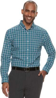 Croft & Barrow Men's Classic-Fit Plaid Easy-Care Button-Down Shirt