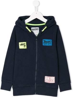Vingino patch appliqué zip-up hoodie