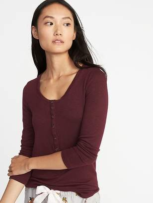 Old Navy Slim-Fit Luxe Soft-Spun Henley for Women