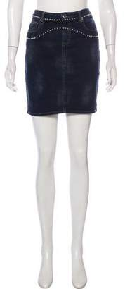 IRO Studded Denim Mini Skirt