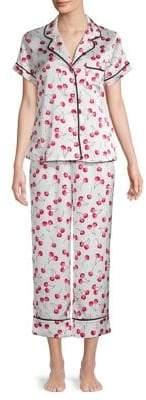 Kate Spade Two-Piece Cherry-Print Pyjama Set