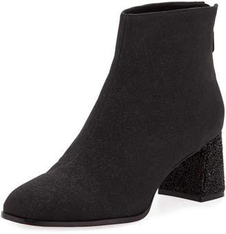 Sophia Webster Stella Glitter Mid-Heel Ankle Boots