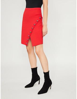 Pinko Gladiolo asymmetric knitted mini skirt