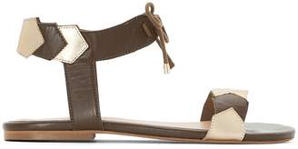 CASTALUNA Flat Leather Sandals