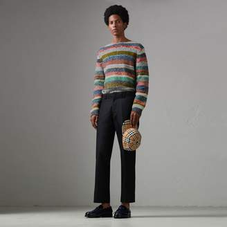 Burberry Striped Merino Wool Mouliné Sweater