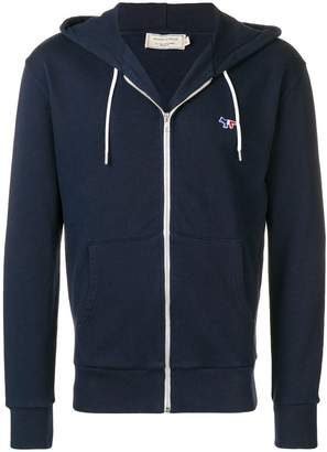 MAISON KITSUNÉ tricolour fox zip up hoodie