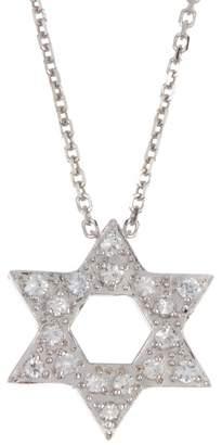 Suzanne Kalan 14K White Gold White Sapphire Necklace