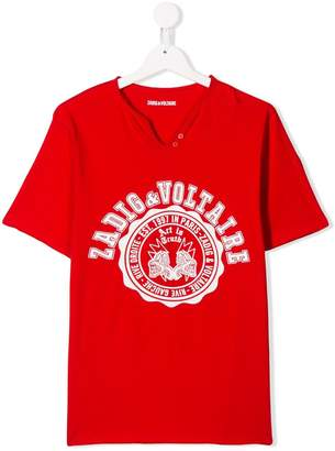 Zadig & Voltaire Kids logo patch T-shirt