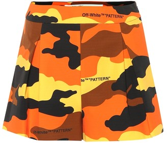 Off-White Off White Camouflage cotton shorts