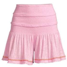 Pitusa Agata Smocked Shorts