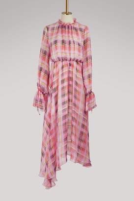 MSGM Long checkered dress