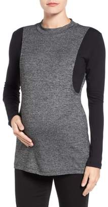 LAB40 'Brie' Colorblock Maternity/Nursing Sweater