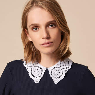 Sandro Fitted top with contrasting collar