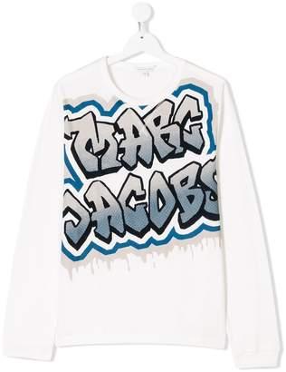 Little Marc Jacobs TEEN graffiti logo print top