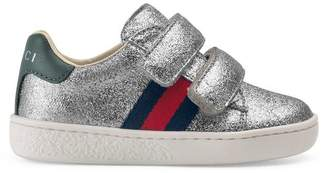 Gucci Toddler GG wolves sneaker
